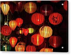 Lantern Shop At Night, Hoi An, Vietnam Acrylic Print by David Wall