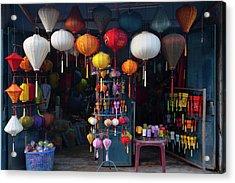 Lantern Shop In Hoi An Ancient Town Acrylic Print by Keren Su