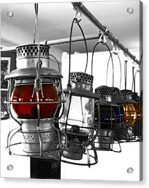Acrylic Print featuring the photograph Lanterns by Raymond Earley