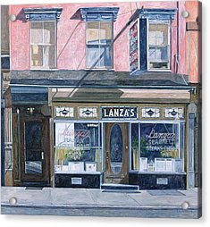 Lanza's Restaurant 11th Street East Village Acrylic Print by Anthony Butera