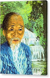 Lao Tzu Acrylic Print by Jane Small