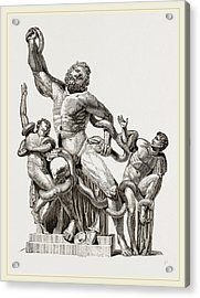 Laocoon In-thecoils Of Snakes Acrylic Print by Litz Collection