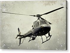 Lapd Helicopter Acrylic Print by Fraida Gutovich