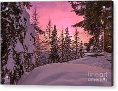 Lapland Sunset Acrylic Print