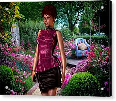 Lara Visits The Flower Show Acrylic Print