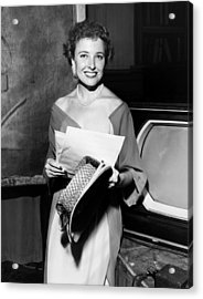 Laraine Day, On The Set Of Her Talk Acrylic Print