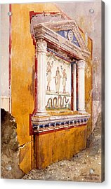 Lararium Of Family Altar, Seen In Situ Acrylic Print