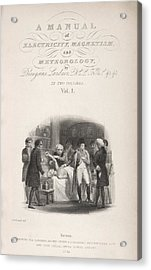 Lardner's Manual (1841) Acrylic Print by King's College London
