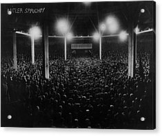 Large Audience Viewed From The Speakers Acrylic Print