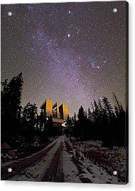 Large Binocular Telescope, Arizona, Usa Acrylic Print by Babak Tafreshi