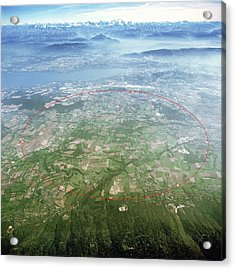 Large Hadron Collider Acrylic Print by Cern