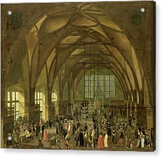 Large Hall In The Prague Hradschin Castle Acrylic Print by Litz Collection