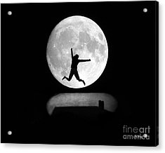 Large Leap For Mankind Acrylic Print