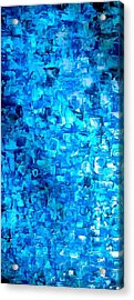 Large Wall Art Textured Painting Vertical Abstract Waterfall Acrylic Print
