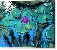Largo Waterlilies Acrylic Print