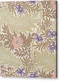 Larkspur Design Acrylic Print by William Morris