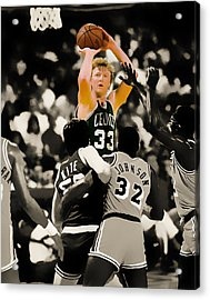 Larry Bird Acrylic Print by Brian Reaves