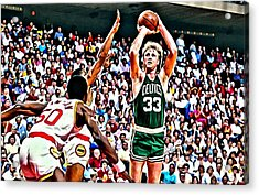 Larry Bird Acrylic Print by Florian Rodarte