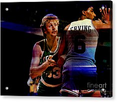 Larry Bird Acrylic Print by Marvin Blaine