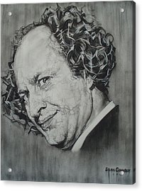 Larry Fine Of The Three Stooges - Where's Your Dignity? Acrylic Print by Sean Connolly