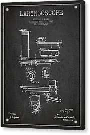 Laryngoscope Patent From 1937  - Dark Acrylic Print