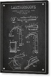 Laryngoscope Patent From 1989 - Dark Acrylic Print by Aged Pixel