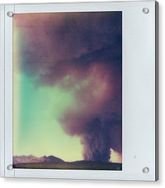 Las Conchas Fire On Instant Film Acrylic Print by Julie VanDore