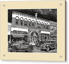Las Cruces New Mexico 1935 Acrylic Print by Jack Pumphrey