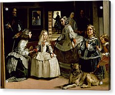Las Meninas, Detail Of The Lower Half Depicting The Family Of Philip Iv Of Spain, 1656 Acrylic Print