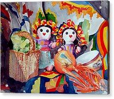 Las Muneca Chicas Acrylic Print