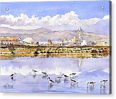 Las Salinas De Cabo De Gata Acrylic Print by Margaret Merry