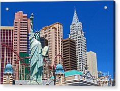 Las Vegas - New York Acrylic Print by Gregory Dyer