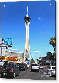 Las Vegas - Stratosphere Acrylic Print by Gregory Dyer