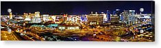 Las Vegas At Night - Panorama Acrylic Print