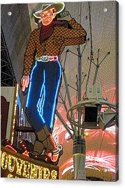 Las Vegas - Fremont Street Experience - 12124 Acrylic Print by DC Photographer