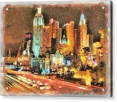 Acrylic Print featuring the painting Las Vegas by Georgi Dimitrov