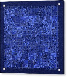 Las Vegas Map Antique 3 Acrylic Print by Bekim Art