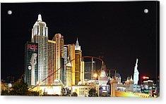 Las Vegas - New York New York Casino - 01132 Acrylic Print by DC Photographer