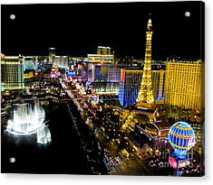 Las Vegas Night Life Acrylic Print by Kip Krause
