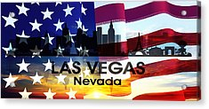 Las Vegas Nv Patriotic Large Cityscape Acrylic Print