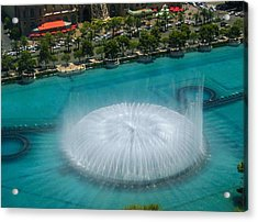 Acrylic Print featuring the photograph Las Vegas Orb by Angela J Wright