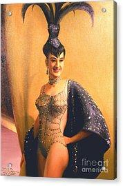 Las Vegas Showgirl  1960s Acrylic Print