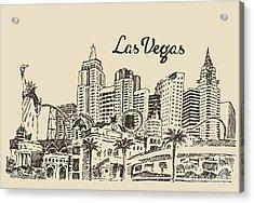 Las Vegas Skyline, Big City Acrylic Print
