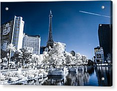 Las Vegas Strip In Infrared 2 Acrylic Print