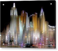 Las Vegas Surreal Acrylic Print by Rod Jones