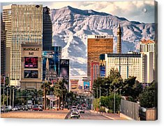Las Vegas Nevada Acrylic Print by Michael Rogers