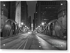 Lasalle St - Chicago Acrylic Print by Jeff Lewis