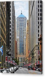 Lasalle Street Chicago - Wall Street Of The Midwest Acrylic Print by Christine Till
