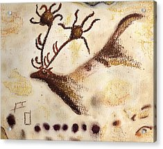 Lascaux Acrylic Print by Angie Brown