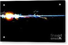 Laser Beam Acrylic Print